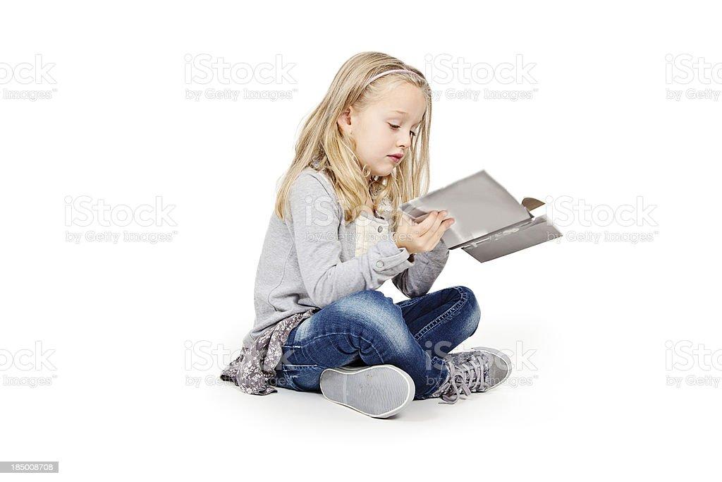 Petite fille lecture - Photo