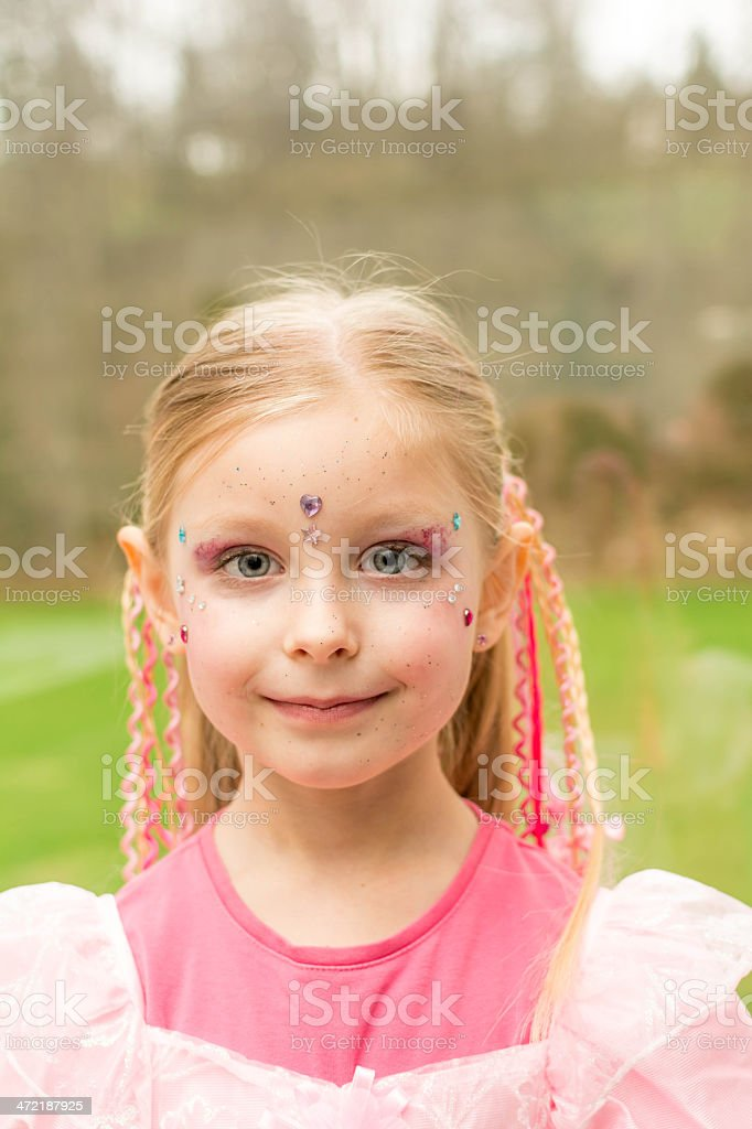 Little girl ready for carnival royalty-free stock photo