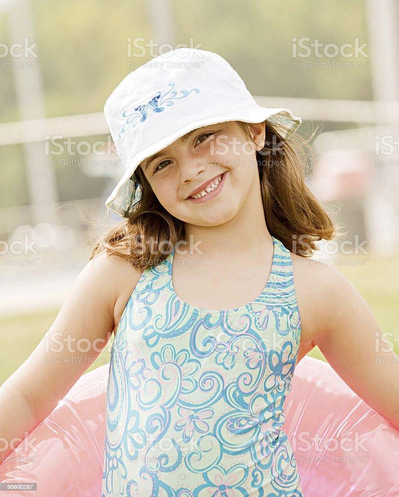 Little Girl Ready to Swim royalty-free stock photo
