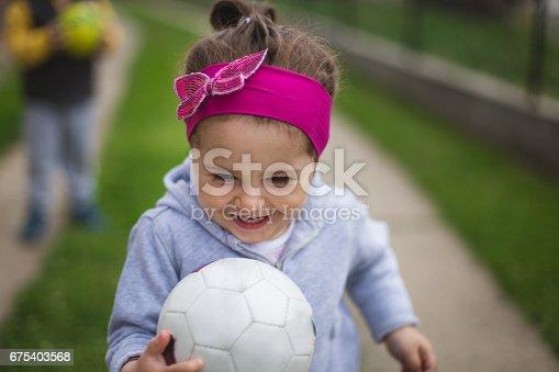 678589610istockphoto Little girl rejoices 675403568