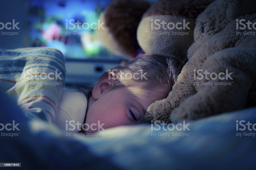 little girl sleeping royalty-free stock photo
