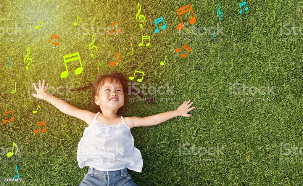little girl smile stock photo