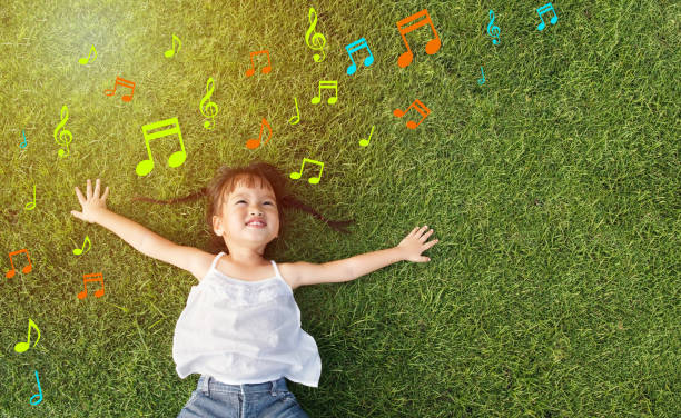 little girl smile - music stock photos and pictures