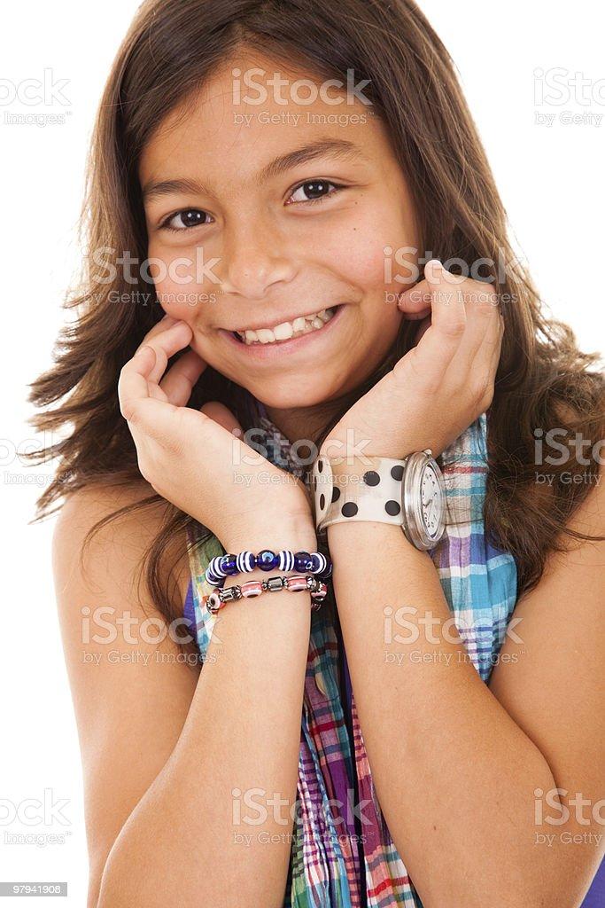 little girl smile royalty-free stock photo