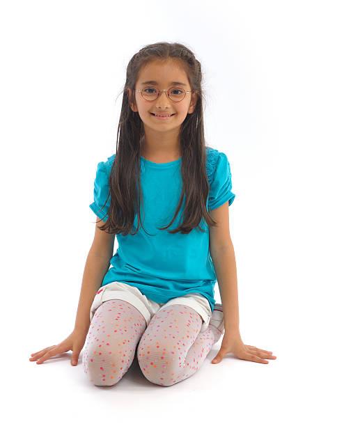 Little girl smiling stock photo