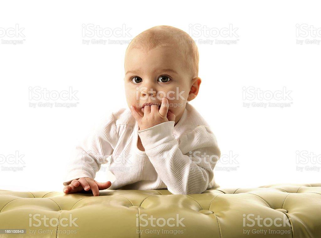 Little Girl Sucking FIngers royalty-free stock photo