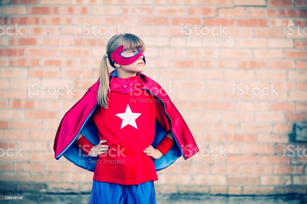 Little Girl Superhero stock photo