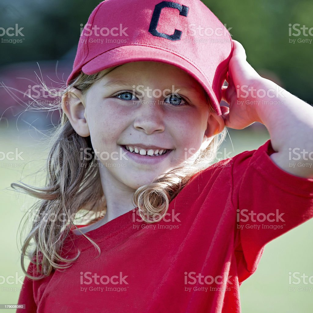 Little Girl Tball stock photo