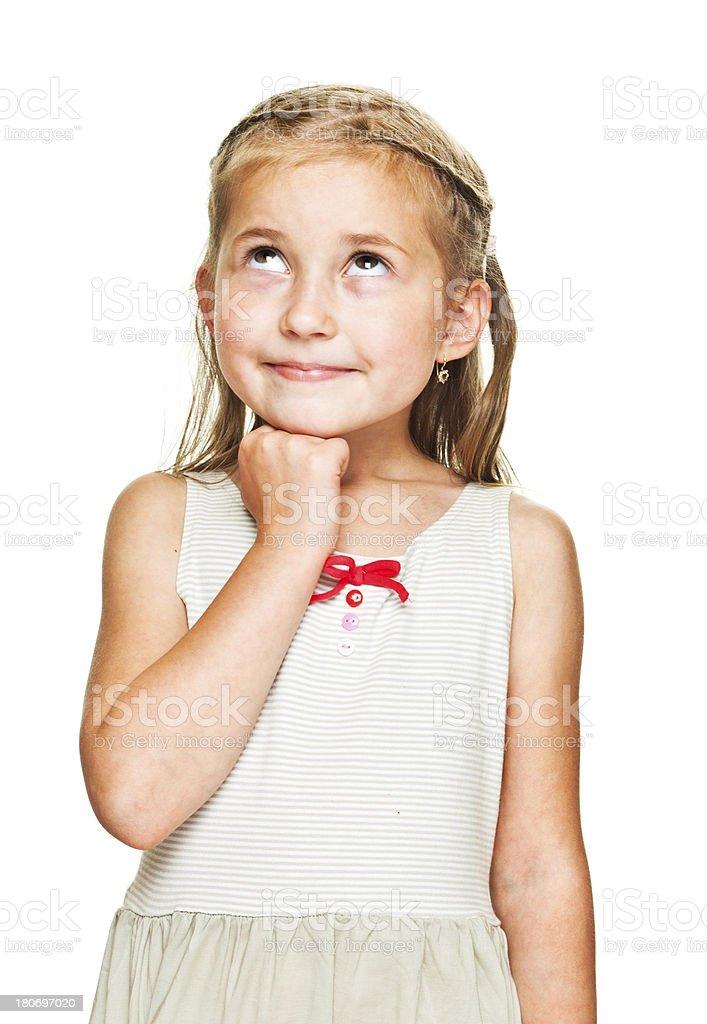 Little Girl Thinking royalty-free stock photo