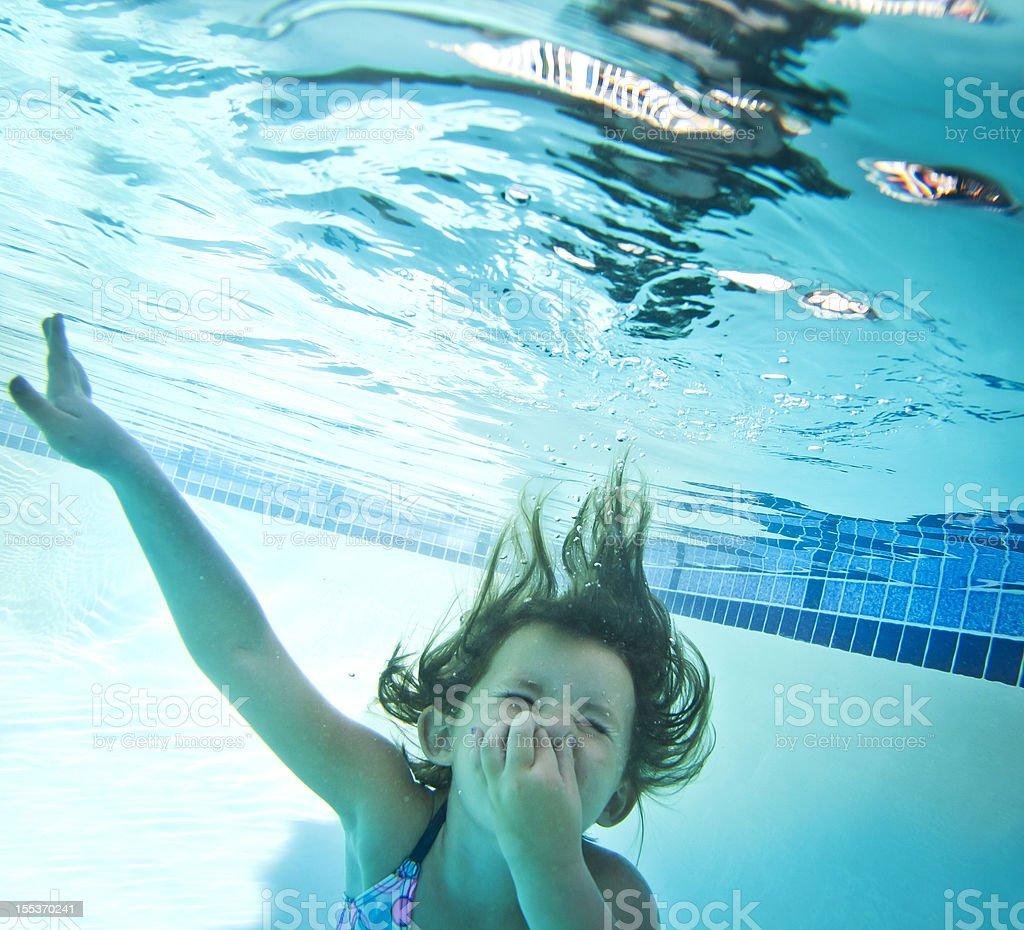 Little Girl Underwater royalty-free stock photo