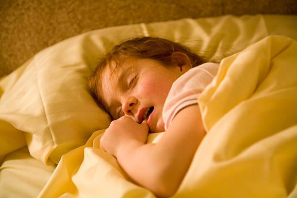Little girl, vast asleep stock photo