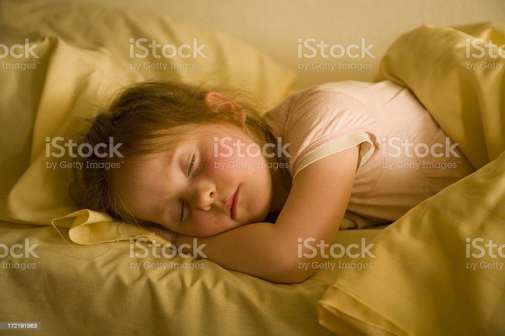 Little girl, vast asleep royalty-free stock photo