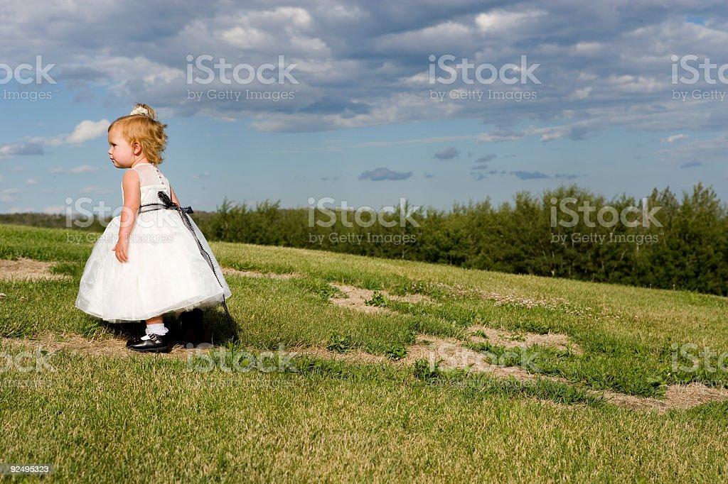 Kleines Mädchen zu Lizenzfreies stock-foto