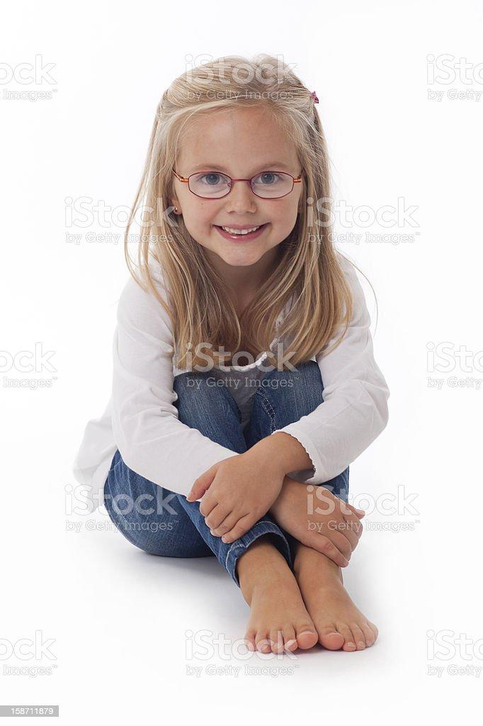 Kleines Mädchen mit Brille – Foto