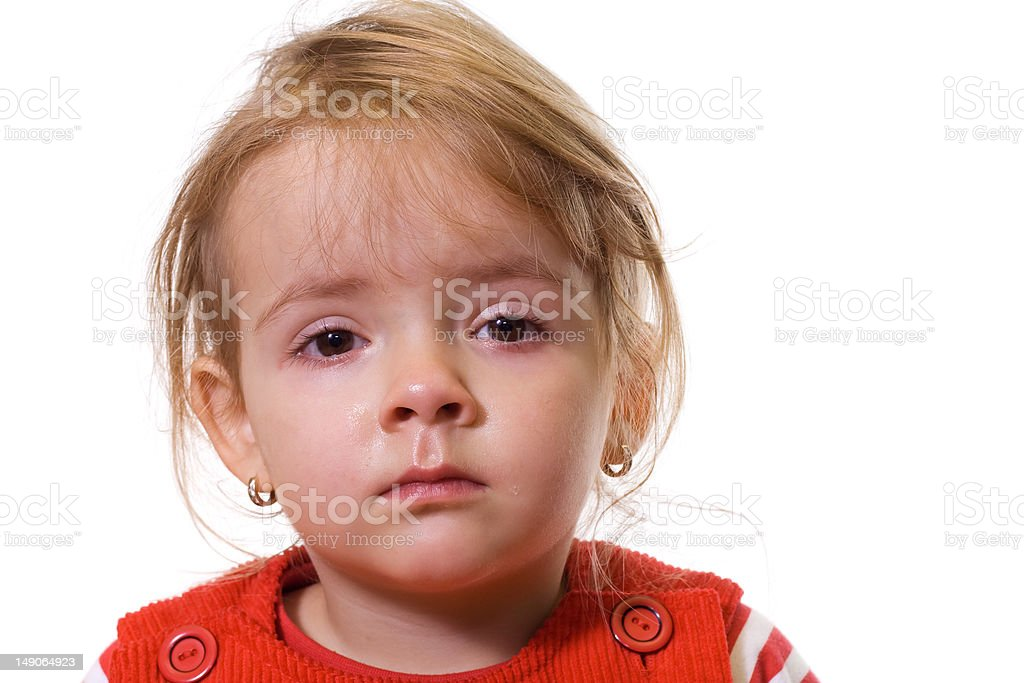 Little girl with a severe flu royalty-free stock photo