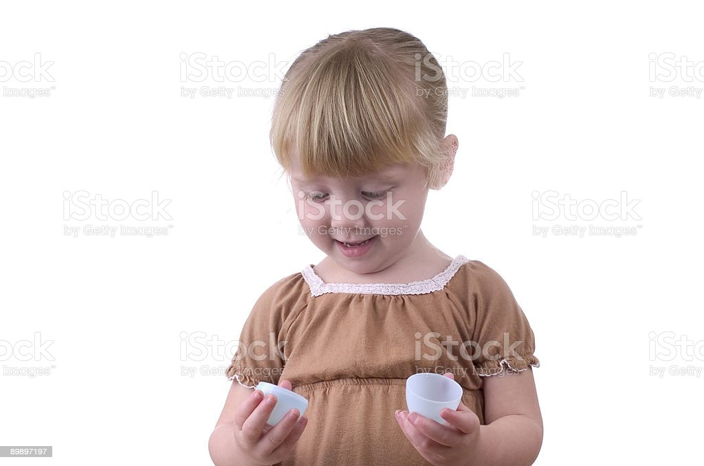 Little Girl with an Easter Egg royalty-free stock photo