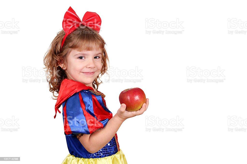 Petite fille avec pomme - Photo