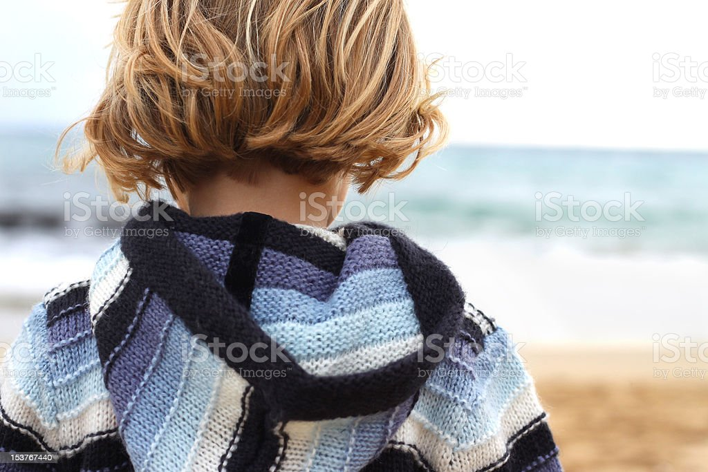 Little girl with back to camera royalty-free stock photo