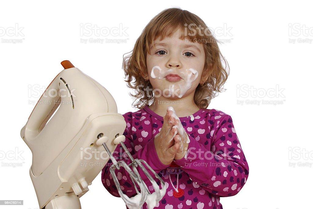 Bambina con gelato foto stock royalty-free