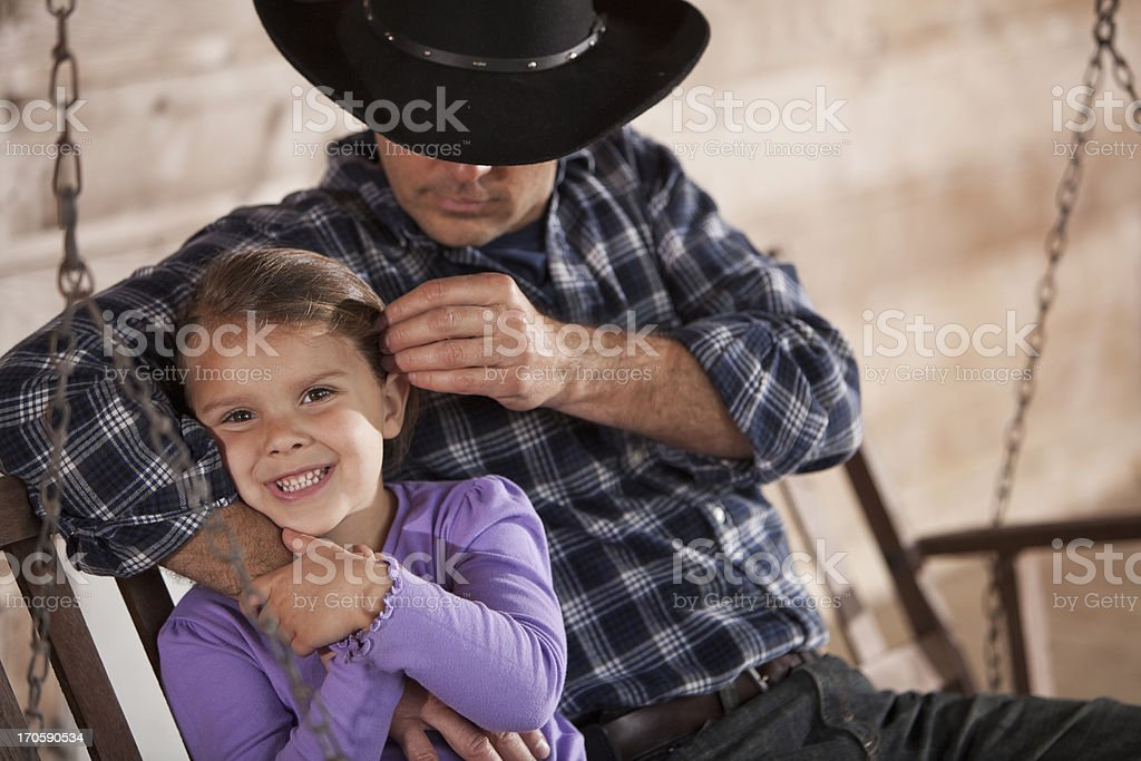 Little girl with daddy royalty-free stock photo