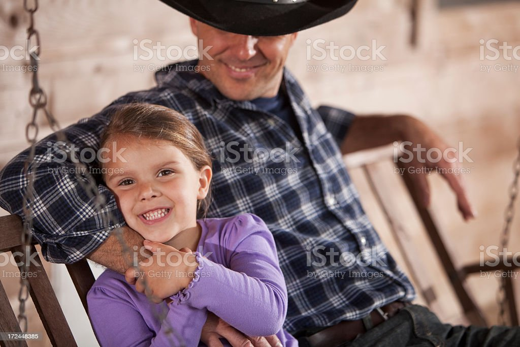 Little girl with daddy stock photo