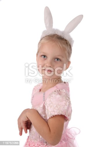 istock little girl  with ears of  rabbit on a head 119752086