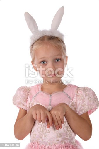 istock little girl  with ears of  rabbit on a head 119781246
