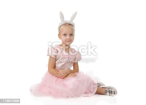 istock little girl  with ears of  rabbit on a head 119810368