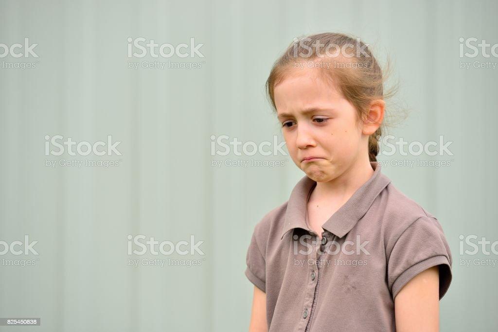 Little girl with emotions on face Стоковые фото Стоковая фотография