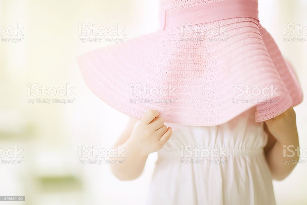 Little Girl With Hat stock photo
