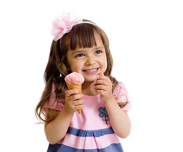 girl eating ice cream stock  pictures