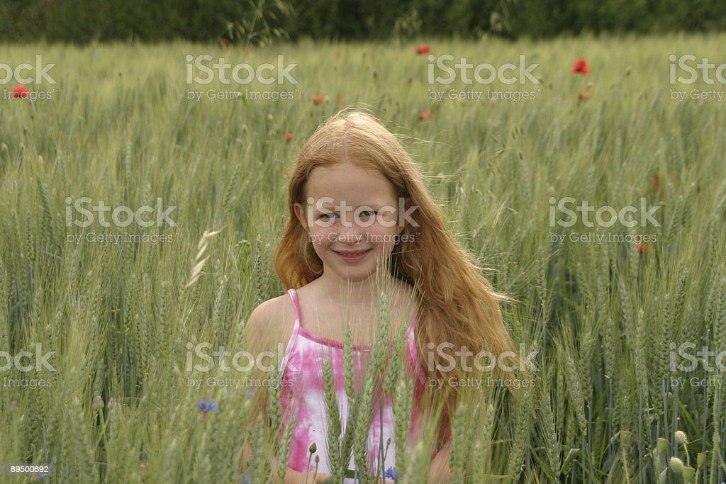 Bambina con i capelli rosso foto stock royalty-free