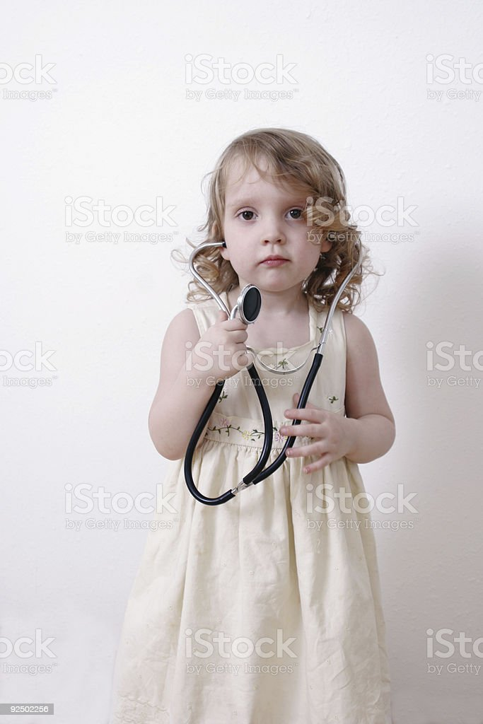 little girl with stethoscope royalty-free stock photo