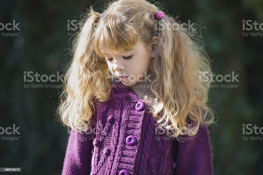 little girl with tails royalty-free stock photo