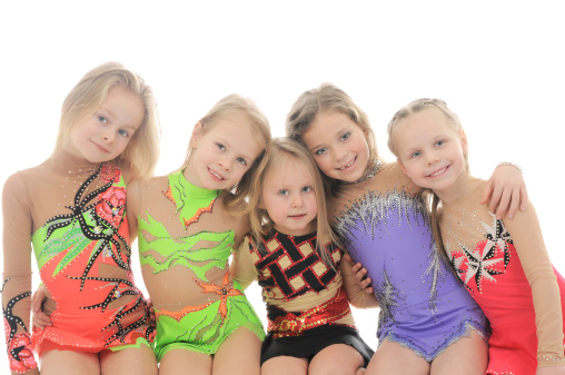 Little Girls Gymnasts Stock Photo - Download Image Now - iStock