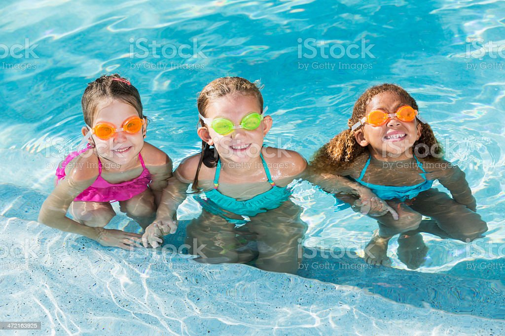 Little Girl Bathing In The Lake Stock Photo - Download