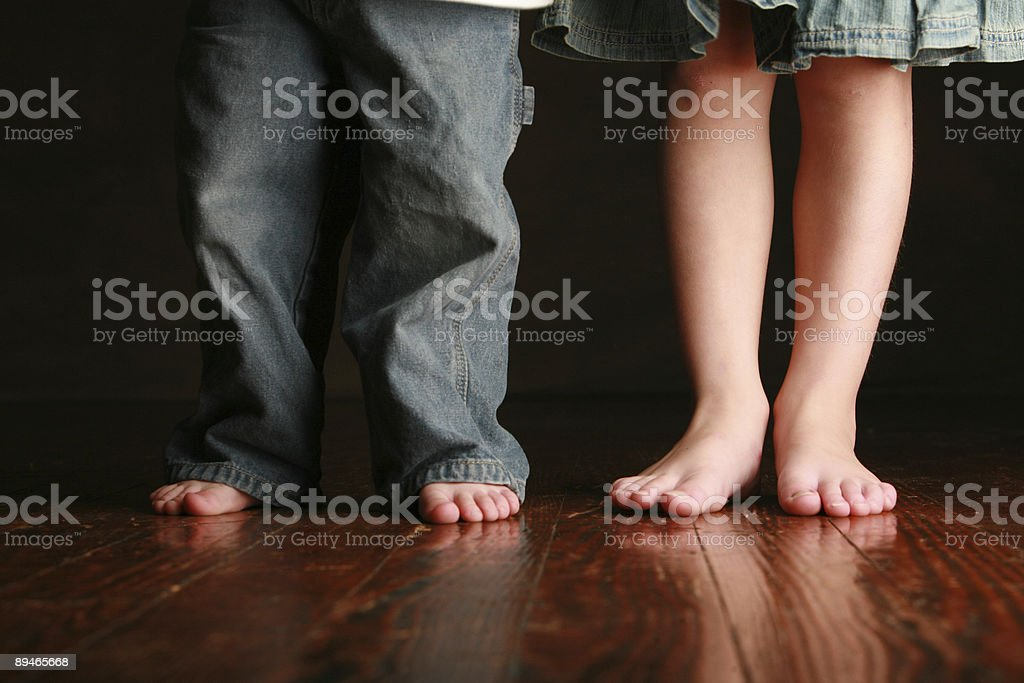 Little girls legs and Feet royalty-free stock photo