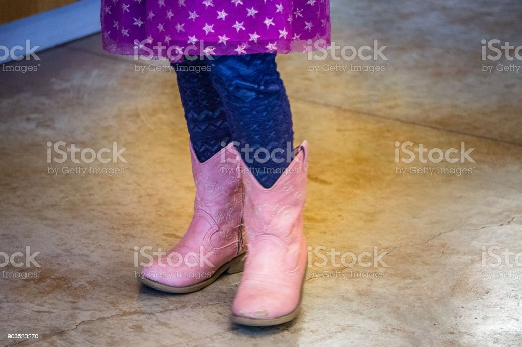 Little Girls Love Their Boots stock photo