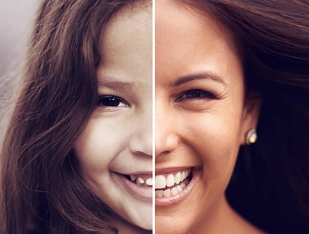 Little girls make the world sweeter stock photo