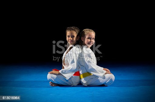 istock Little girls martial arts fighters 613016964