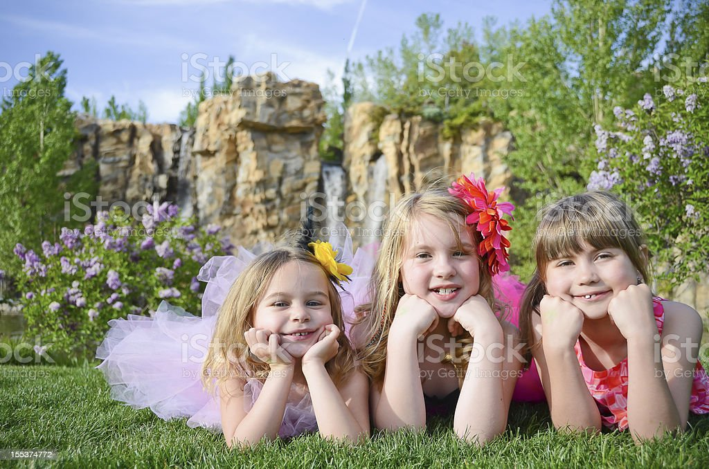 Little girls outdoor portrait royalty-free stock photo
