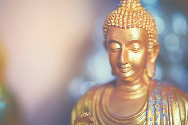little golden buddha - buddha stock photos and pictures