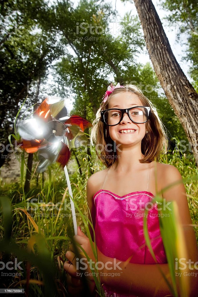 Little goofy child royalty-free stock photo