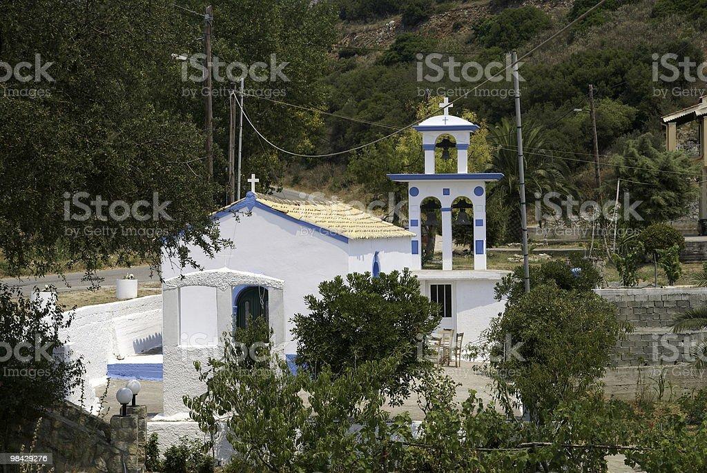 Little greek church royalty-free stock photo