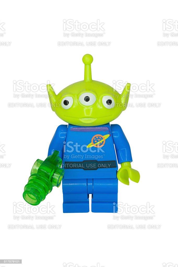 Little Green Alien Minifigure stock photo