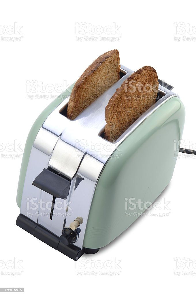 Little Green Toaster II with Path royalty-free stock photo