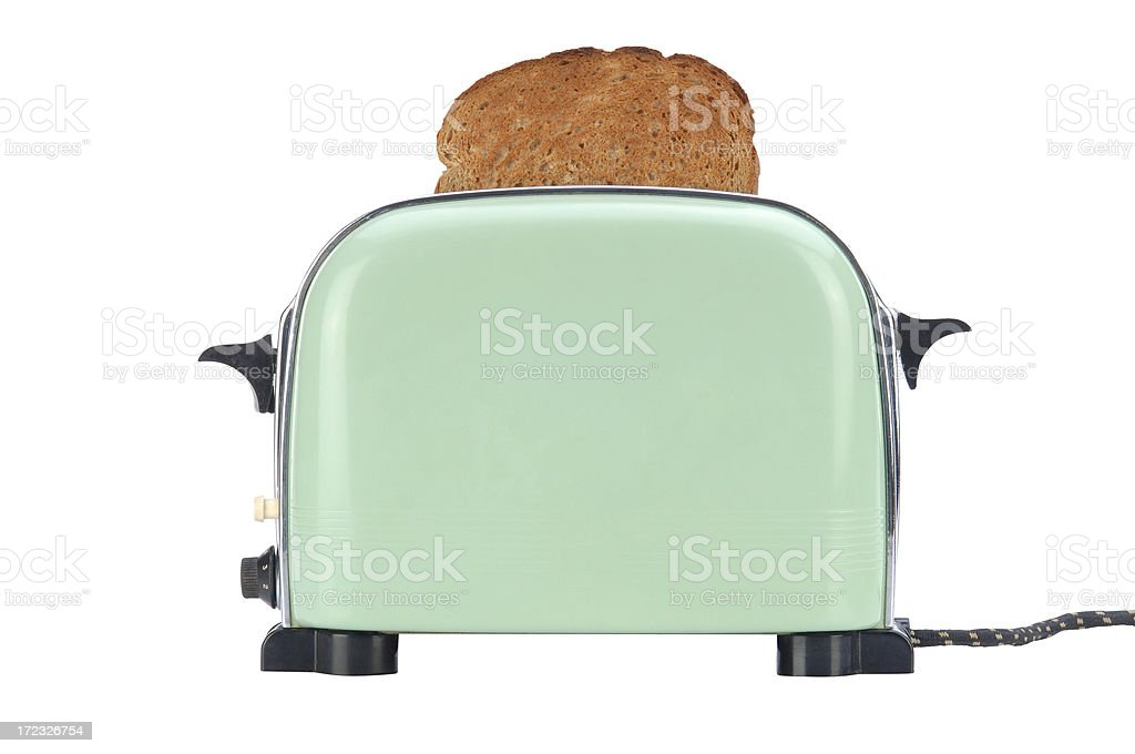 Little Green Toaster with Path stock photo