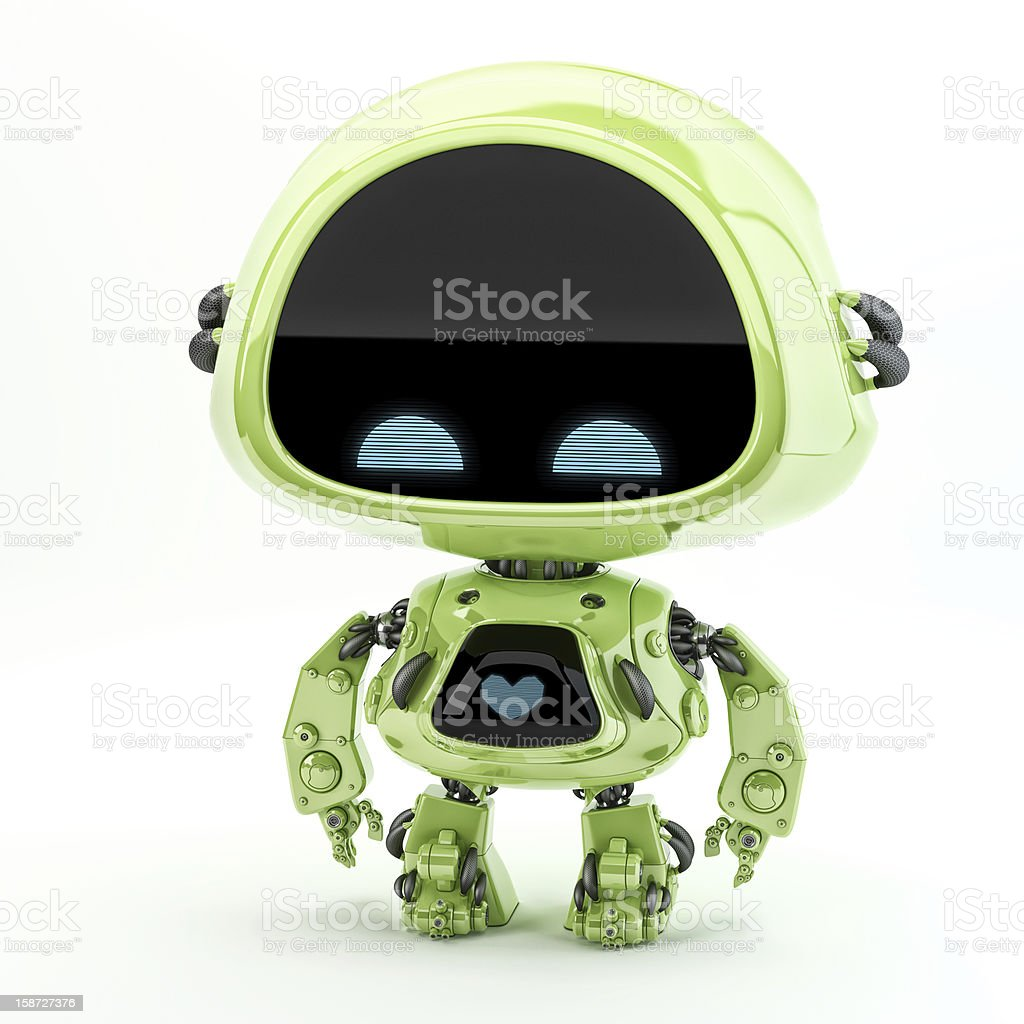 Little green toy stock photo