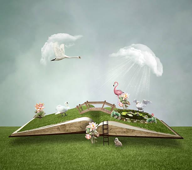 little green world - märchenillustrationen stock-fotos und bilder
