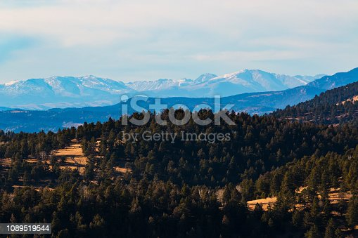Historic mines, Little Grouse Mountain and the Collegiate Peak  Mountains providing backdrop for a beautiful old west setting.